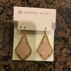 Kendra Scott rose quartz Alex Earrings